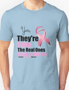 Yes They're fake. My real ones tried to kill me. Unisex T-Shirt