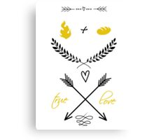 Fire + Bread = True Love Canvas Print