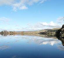 Reflections on the Meadowbank Dam  by Christine Lovell