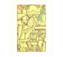 imprinted on a contingencie Art Print