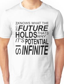 No one knows what the future holds... Unisex T-Shirt