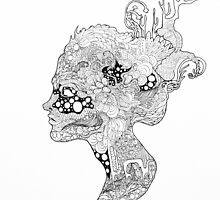 Original Ink Drawing (Oceanna) by Christina Martine