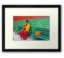 Monk At Yonghegong Lama Temple Framed Print
