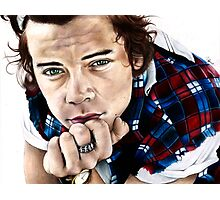 Harry Styles- One Direction Sketch Photographic Print