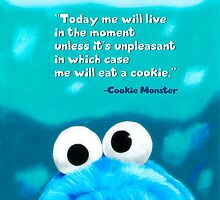 Cookie Monster Motivational Print by Tiffany Taimoorazy