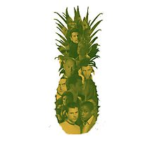 Pineapple Outline Psych Cast Photographic Print