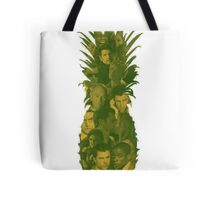 Pineapple Outline Psych Cast Tote Bag