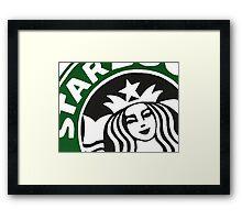 Starbucks Painting Framed Print