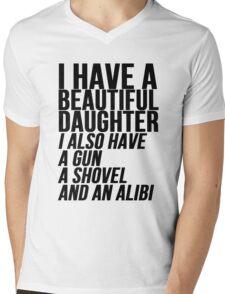 I have a daughter gun and shovel Mens V-Neck T-Shirt