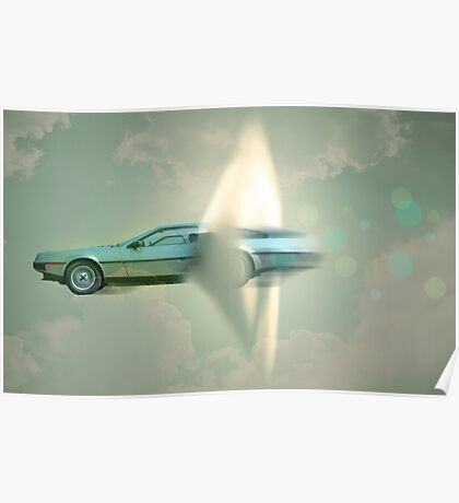 supersonic Delorean Poster