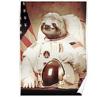 Astronaut Sloth Poster