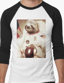 Astronaut Sloth Men's Baseball ¾ T-Shirt