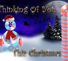 Thinking Of You This Christmas CD Snowman by jkartlife