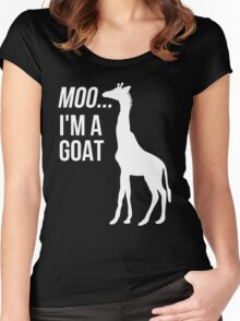 Moo, I'm A Goat Women's Fitted Scoop T-Shirt
