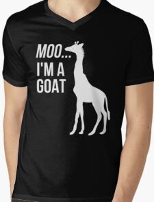 Moo, I'm A Goat Mens V-Neck T-Shirt