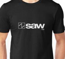Sawtooth Wave (White on Black) Unisex T-Shirt