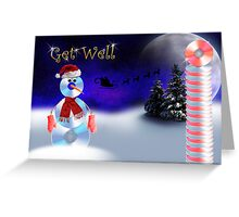 Get Well CD Snowman Greeting Card