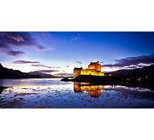 Dusk Eilean Donan Castle and Loch Duich, Scotland Photographic Print