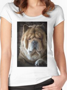 Chow-Chow portrait Women's Fitted Scoop T-Shirt
