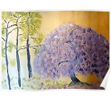 Shining Wisteria Tree Poster