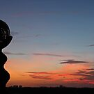 sunrise sculpture at sunrise by cliffordc1