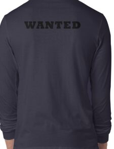 WANTED COOL RETRO DESIGN Long Sleeve T-Shirt