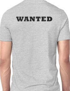 WANTED COOL RETRO DESIGN Unisex T-Shirt