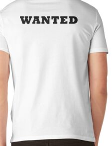 WANTED COOL RETRO DESIGN Mens V-Neck T-Shirt