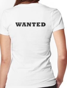 WANTED COOL RETRO DESIGN Womens Fitted T-Shirt