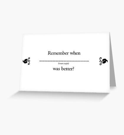 Boomer Cards - Memories Greeting Card