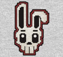 PIXEL ART - RABBIT SKULL (RED) One Piece - Short Sleeve