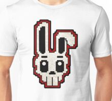 PIXEL ART - RABBIT SKULL (RED) Unisex T-Shirt