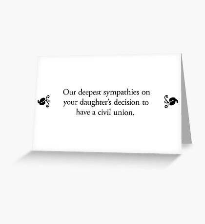 Boomer Cards - Gay marriage Greeting Card