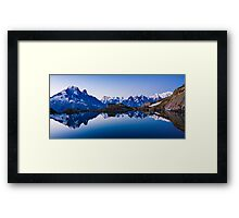 Lac Blanc Panorama Framed Print
