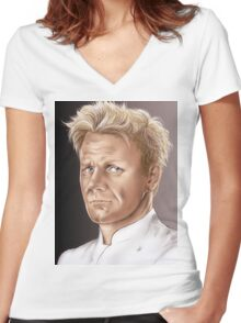 Gordon Ramsay - Hell's Kitchen Women's Fitted V-Neck T-Shirt