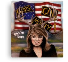 Sarah Palin original art Canvas Print