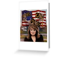 Sarah Palin original art Greeting Card