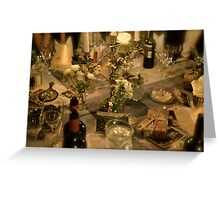 A dinner to remember Greeting Card