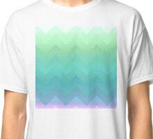 Soft, pretty Ombre Chevron pattern green, lavender Classic T-Shirt