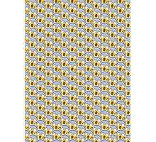 Shock Emoji Pattern Photographic Print