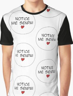 MANGA BUBBLES - NOTICE ME SENPAI  Graphic T-Shirt