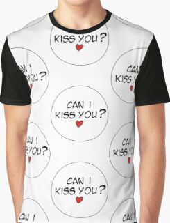 MANGA BUBBLES - CAN I KISS YOU?  Graphic T-Shirt