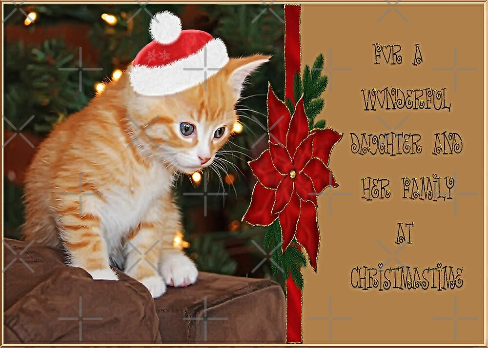 For A Wonderful Daughter and Her Family At Christmastime by Vickie Emms