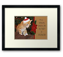 For A Wonderful Daughter and Her Family At Christmastime Framed Print