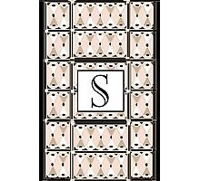 1920s Pink Champagne Gatsby Monogram letter S Photographic Print
