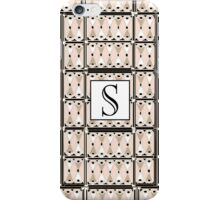 1920s Pink Champagne Gatsby Monogram letter S iPhone Case/Skin