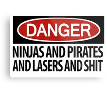 DANGER: There's danger afoot! Metal Print