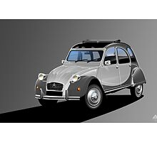 Citroen 2CV Charleston Poster Illustration by Autographics