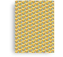 Crying Laugh Emoji Pattern Canvas Print