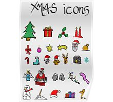 xmas icons Poster